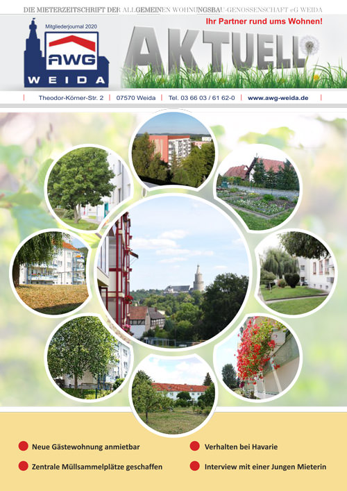 Mieterzeitung AWG-Weida 2020